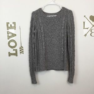 OLD NAVY GRAY CABLE KNIT SWEATER